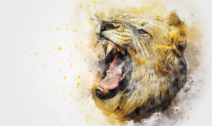 Quel tableau lion utilisé pour décorer mon salon ?